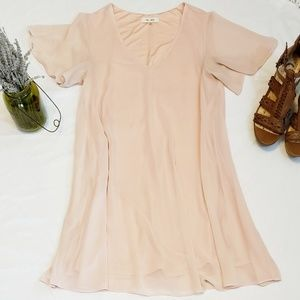 Anthropologie Bow + Arrow Blush Pink Dress Small